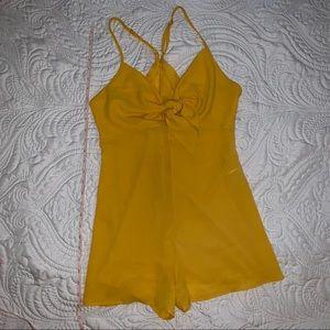 Bright yellow romper